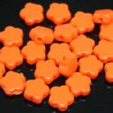Beads, Acrylic, orange, Flower shape, 10mm x 10mm x 3mm, 11g, 50 Beads, (SLZ0039)